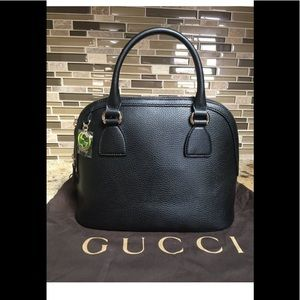 Gucci Alma style Black Leather Bag, AUTHENTIC, NEW